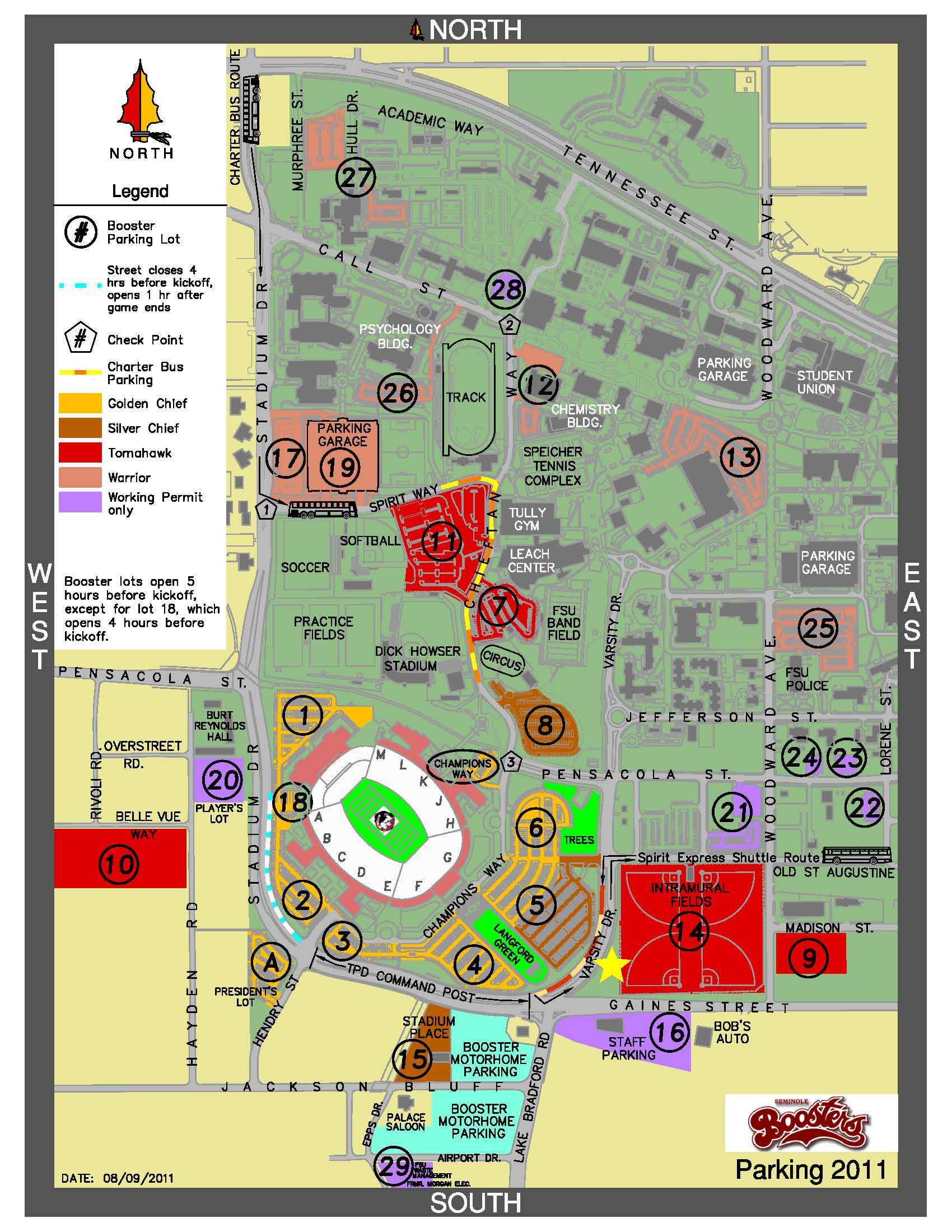 Map of tailgate location